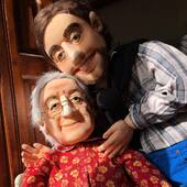Abuela y su Nieto 💜 marionetas de 1,2m con movimiento de boca #puppets  #puppetchainletter #abuela